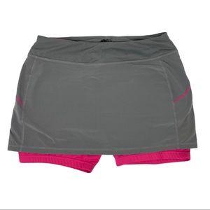 Ryka Skort Workout Skirt/Short Combo Gray Pink Med